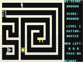 In game image of Escape MCP on the Commodore 64.