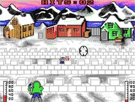 In game image of Eskimo Games on the Commodore 64.
