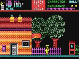 In game image of Everyone's A Wally on the Commodore 64.