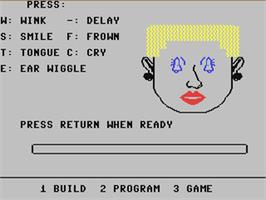 In game image of FaceMaker on the Commodore 64.