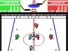 In game image of Face Off! on the Commodore 64.