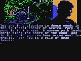 In game image of Fahrenheit 451 on the Commodore 64.