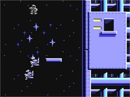 In game image of Falcon: The Renegade Lord on the Commodore 64.