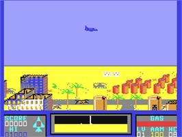 In game image of Falcon Patrol II on the Commodore 64.