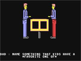 In game image of Family Feud on the Commodore 64.