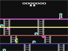 In game image of Fast Eddie on the Commodore 64.