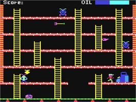 In game image of Felix in the Factory on the Commodore 64.