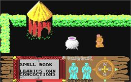 In game image of Feud on the Commodore 64.