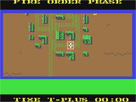 In game image of Field of Fire on the Commodore 64.