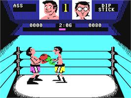 In game image of Fight Night on the Commodore 64.