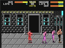 In game image of Final Fight on the Commodore 64.