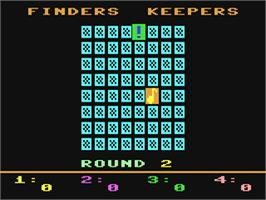 In game image of Finders Keepers on the Commodore 64.
