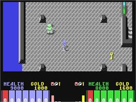 In game image of Fire King on the Commodore 64.