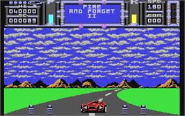 In game image of Fire and Forget 2: The Death Convoy on the Commodore 64.