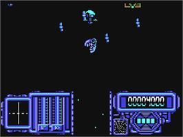In game image of Firefly on the Commodore 64.