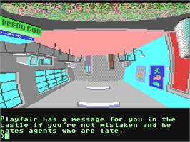 In game image of Fish! on the Commodore 64.