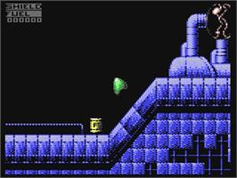 In game image of Fly Harder on the Commodore 64.
