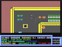 In game image of Force Seven on the Commodore 64.
