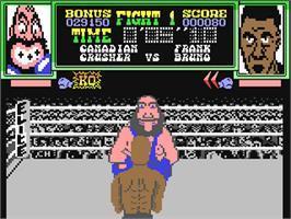In game image of Frank Bruno's Boxing on the Commodore 64.