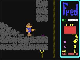 In game image of Fred on the Commodore 64.