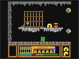 In game image of Frost Byte on the Commodore 64.