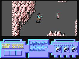 In game image of G.U.T.Z. on the Commodore 64.