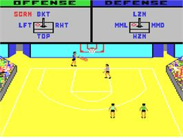 In game image of GBA Championship Basketball: Two-on-Two on the Commodore 64.