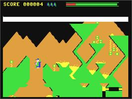 In game image of Galactic Gardener on the Commodore 64.