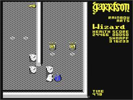 In game image of Garrison on the Commodore 64.