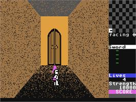 In game image of Gates of Dawn on the Commodore 64.