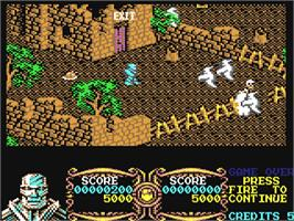 In game image of Gauntlet III: The Final Quest on the Commodore 64.