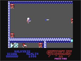 In game image of Gauntlet II on the Commodore 64.