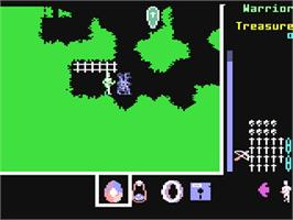 In game image of Gemstone Healer on the Commodore 64.