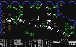 In game image of Germany 1985 on the Commodore 64.