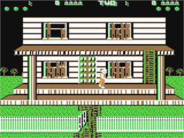 In game image of Ghost Chaser on the Commodore 64.