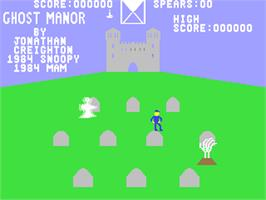 In game image of Ghost Manor on the Commodore 64.