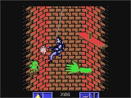 In game image of Ghostbusters II on the Commodore 64.
