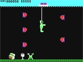 In game image of Glug Glug on the Commodore 64.