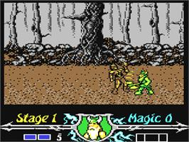 In game image of Golden Axe on the Commodore 64.
