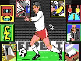 In game image of Graeme Souness Soccer Manager on the Commodore 64.