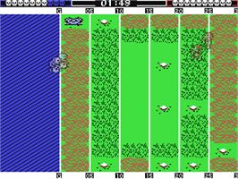 In game image of Grave Yardage on the Commodore 64.