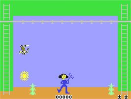 In game image of Greenhouse on the Commodore 64.