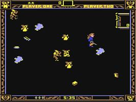 In game image of Gremlins on the Commodore 64.