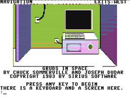 In game image of Gruds In Space on the Commodore 64.