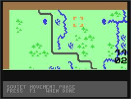In game image of Guderian on the Commodore 64.