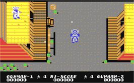 In game image of Gun.Smoke on the Commodore 64.