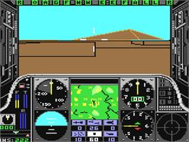 In game image of Gunship on the Commodore 64.