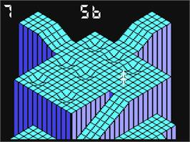 In game image of Gyroscope on the Commodore 64.