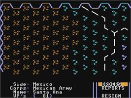 In game image of Halls of Montezuma: A Battle History of the United States Marine Corps on the Commodore 64.