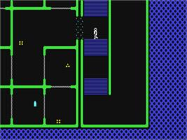 In game image of Halls of the Things on the Commodore 64.